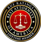 Rue Ratings: Best Attorneys Of America, lifetime member